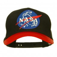 NASA Patched Two Tone Mesh Cap - Red Black