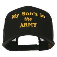 My Son is in the Army Embroidered Mesh Cap - Black