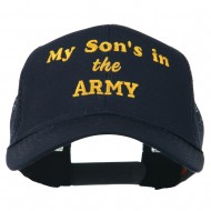 My Son is in the Army Embroidered Mesh Cap - Navy