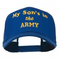 My Son is in the Army Embroidered Mesh Cap - Royal