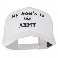 My Son is in the Army Embroidered Mesh Cap - White