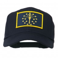 State of Indiana Embroidered Patch Cap - Navy