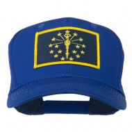 State of Indiana Embroidered Patch Cap - Royal
