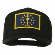 State of Indiana Embroidered Patch Cap - Black