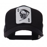 Skull and Choppers Embroidered Military Patched Mesh Cap - Large Skull