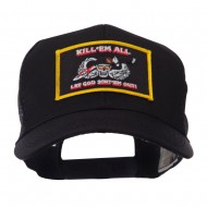 Skull and Choppers Embroidered Military Patched Mesh Cap - Kill 2