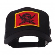 Skull and Choppers Embroidered Military Patched Mesh Cap - Pirates