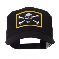 Skull and Choppers Embroidered Military Patched Mesh Cap - Red Eyes
