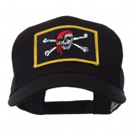 Skull and Choppers Embroidered Military Patched Mesh Cap - Red