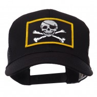 Skull and Choppers Embroidered Military Patched Mesh Cap - Jolly Roger