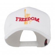 Statue of Liberty Freedom Embroidered Cap - White