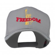 Statue of Liberty Freedom Embroidered Cap - Grey