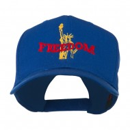 Statue of Liberty Freedom Embroidered Cap - Royal