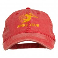 Spike Club Man Volleyball Embroidered Washed Cap - Red