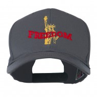 Statue of Liberty Freedom Embroidered Cap - Charcoal