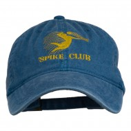 Spike Club Man Volleyball Embroidered Washed Cap - Sky Blue