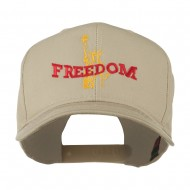 Statue of Liberty Freedom Embroidered Cap - Khaki