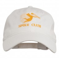 Spike Club Man Volleyball Embroidered Washed Cap - White