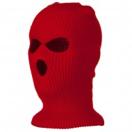 Ski Mask with Three Holes - Red