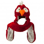 SW Long Mitten Animal Hat - Red Parrot