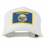 Montana State High Profile Patch Cap - White