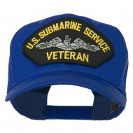 US Submarine Service Veteran Military Patched High Profile Cap - Royal