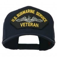 US Submarine Service Veteran Military Patched High Profile Cap - Navy