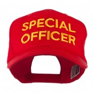 Special Officer Embroidered Cap - Red