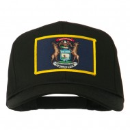 State of Michigan Embroidered Patch Cap - Black