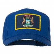 State of Michigan Embroidered Patch Cap - Royal