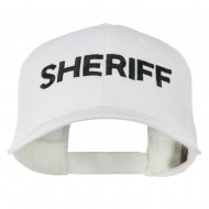 Sheriff Embroidered Low Profile Cap - White
