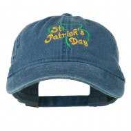St Patrick's Day Clover Embroidered Cap - Navy