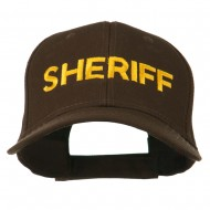 Sheriff Embroidered Low Profile Cap - Dark Brown