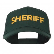 Sheriff Embroidered Low Profile Cap - Dark Green
