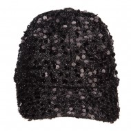 Women's Sequin Ball Cap - Black