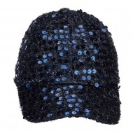 Women's Sequin Ball Cap - Blue