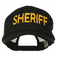 Sheriff Embroidered Foam Front Mesh Back Cap - Black