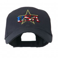 USA Logo with Star Embroidered Cap - Navy
