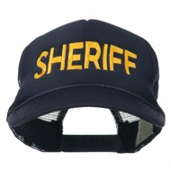 Sheriff Embroidered Foam Front Mesh Back Cap - Navy