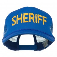 Sheriff Embroidered Foam Front Mesh Back Cap - Royal