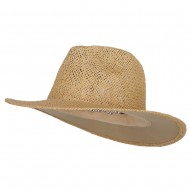 Safari Straw Hats - Natural No Band