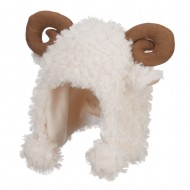 Baby Ear and Horn Animal Ski Beanie - Ram