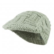 Solid Tangle Knit Ivy - Light Grey