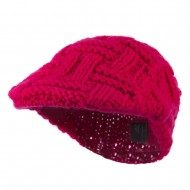Solid Tangle Knit Ivy - Fuchsia