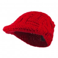 Solid Tangle Knit Ivy - Red