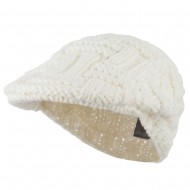 Solid Tangle Knit Ivy - White