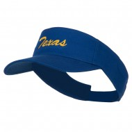 Texas State Embroidered Cotton Twill Sun Visor - Royal
