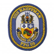 USS Solid Border Patches - USS Kauffman