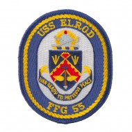 USS Solid Border Patches - USS Elrod