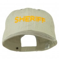 Sheriff Letter Embroidered Big Size Washed Cap - Putty Brown